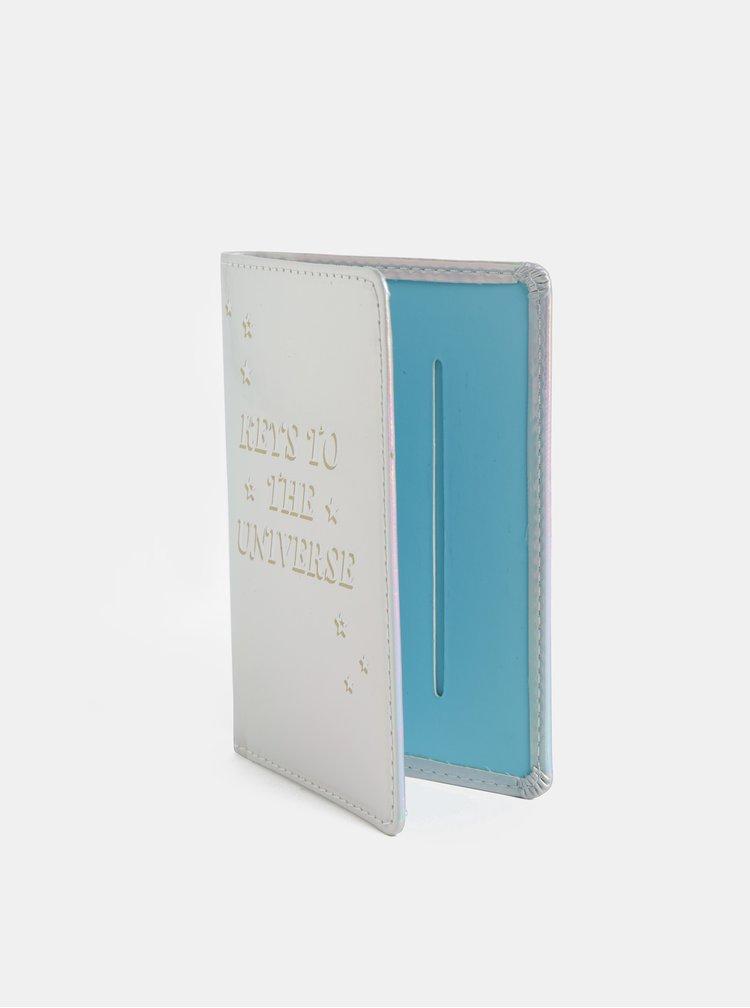 Obal na pas ve stříbrné barvě Chronicle Cosmos
