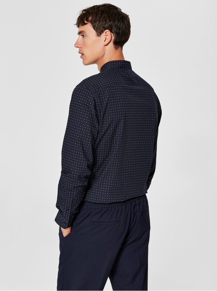Modrá slim fit košile Selected Homme