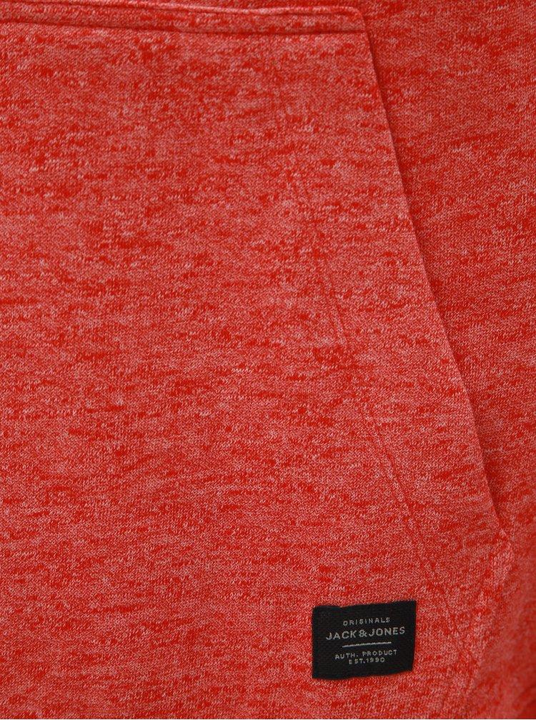 Oranžová žíhaná mikina s nápisem Jack & Jones Friday