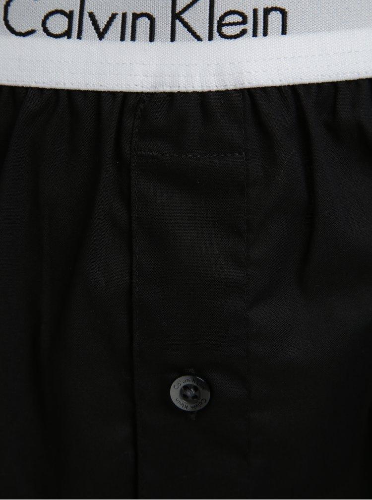 Set de 2 perechi de boxeri gri & negru cu logo - Calvin Klein Underwear