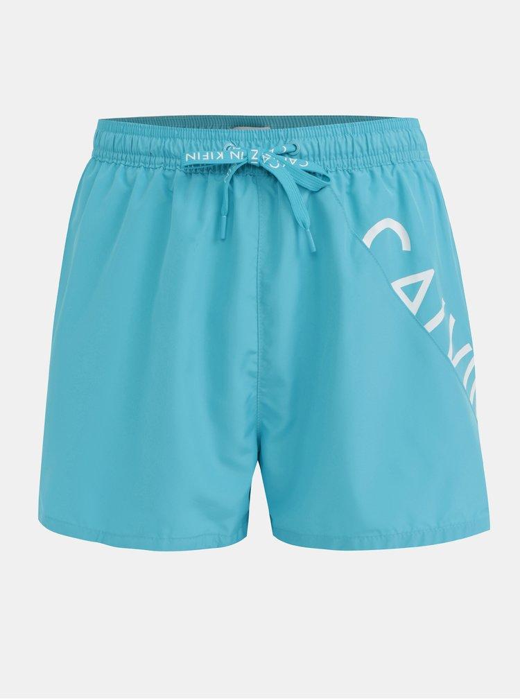 Svetlomodré pánske plavky Calvin Klein Underwear