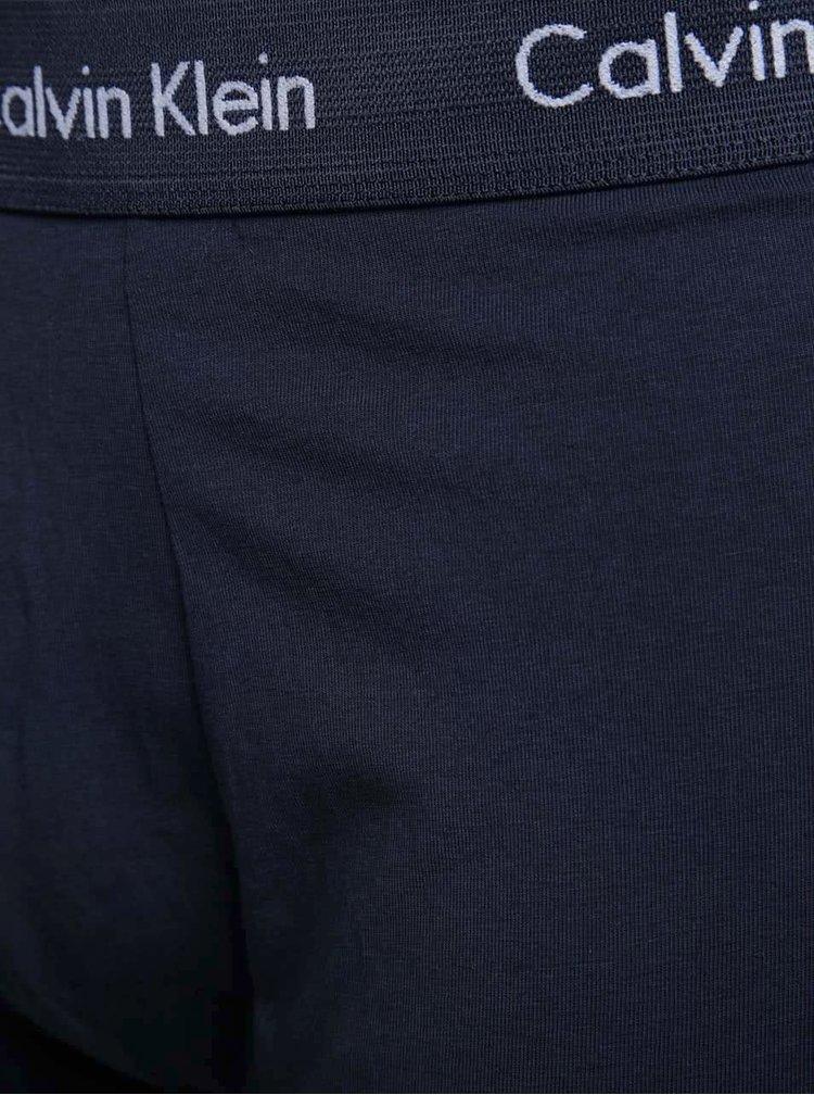 Súprava troch boxeriek v modrej farbe Calvin Klein Underwear