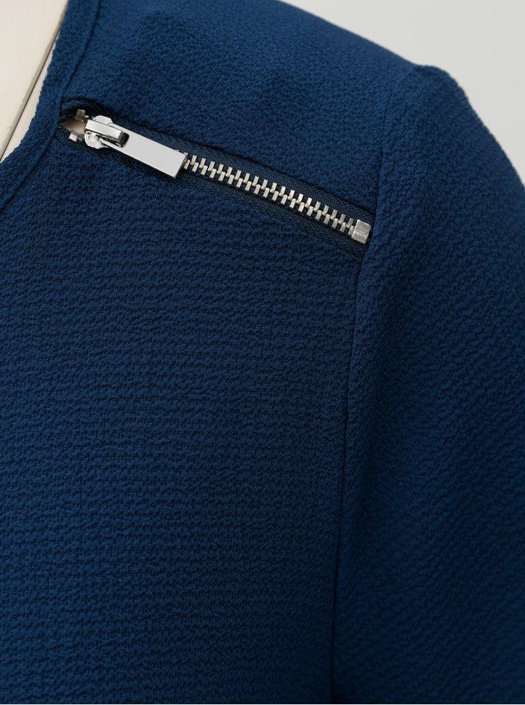 Modrá halenka se zipy Dorothy Perkins Petite