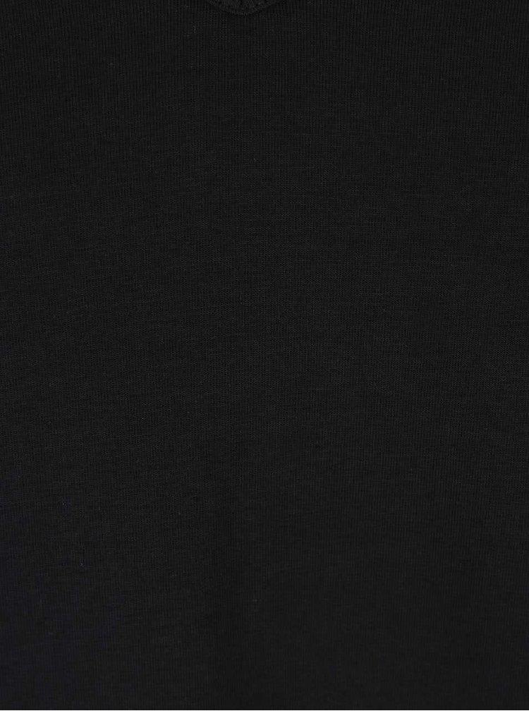 Súprava dvoch pánskych čiernych regular fit tričiek pod košeľu Calvin Klein Underwear