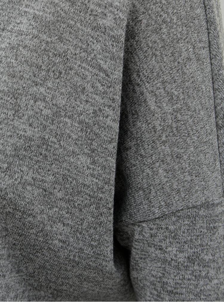 Sivý top so všitou blúzkou a 3/4 rukávom Dorothy Perkins Petite