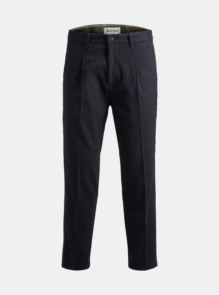 Pantaloni albastru inchis pana la glezne Jack & Jones Ace