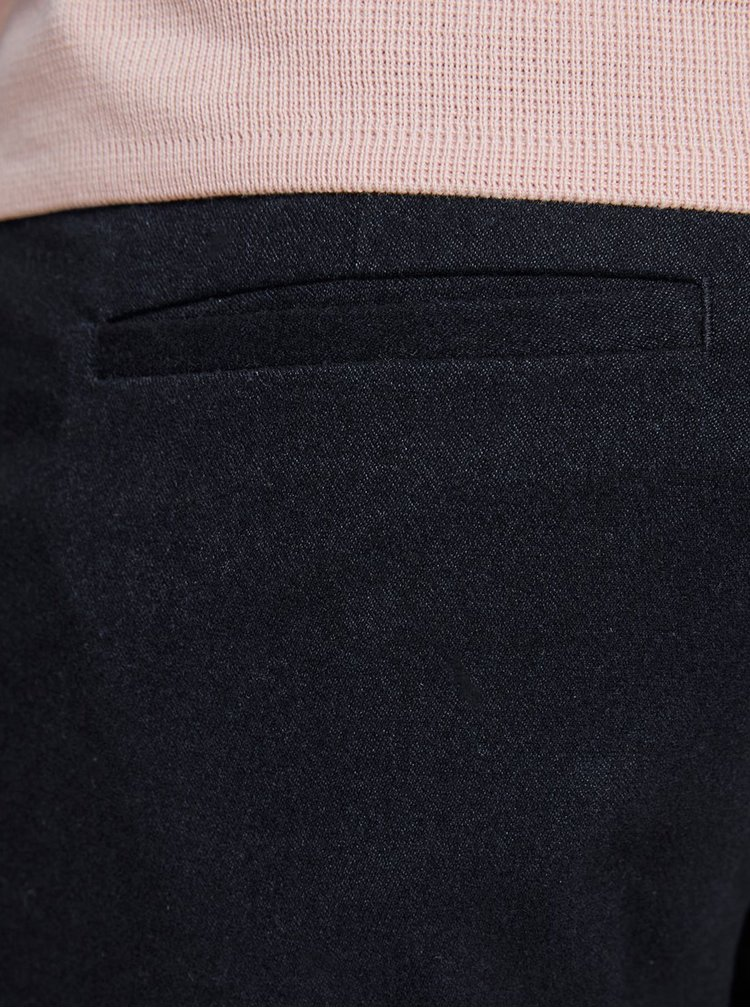 Tmavě modré zkrácené kalhoty s lampasem Jack & Jones Ace