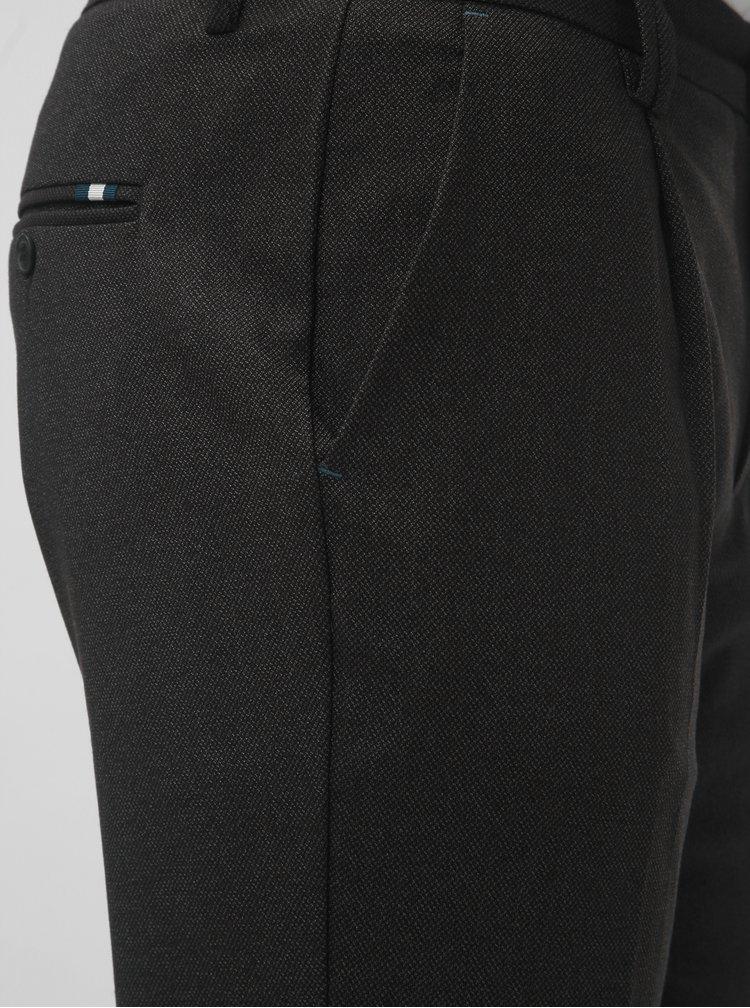 Tmavě šedé vzorované regular fit kalhoty Jack & Jones Cody