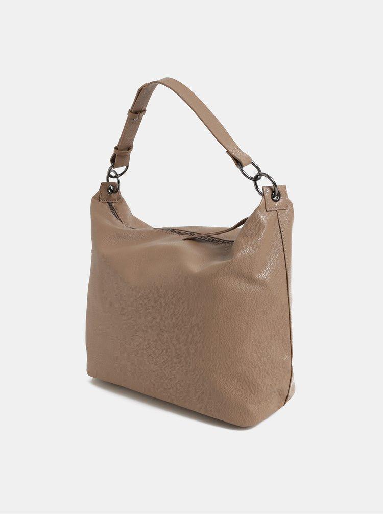 Béžová velká kabelka se střapci Dorothy Perkins Hobo