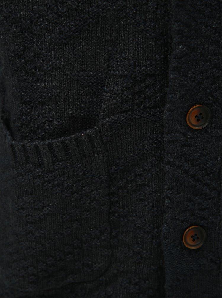 Tmavě modrý kardigan s knoflíky Jack & Jones Matt