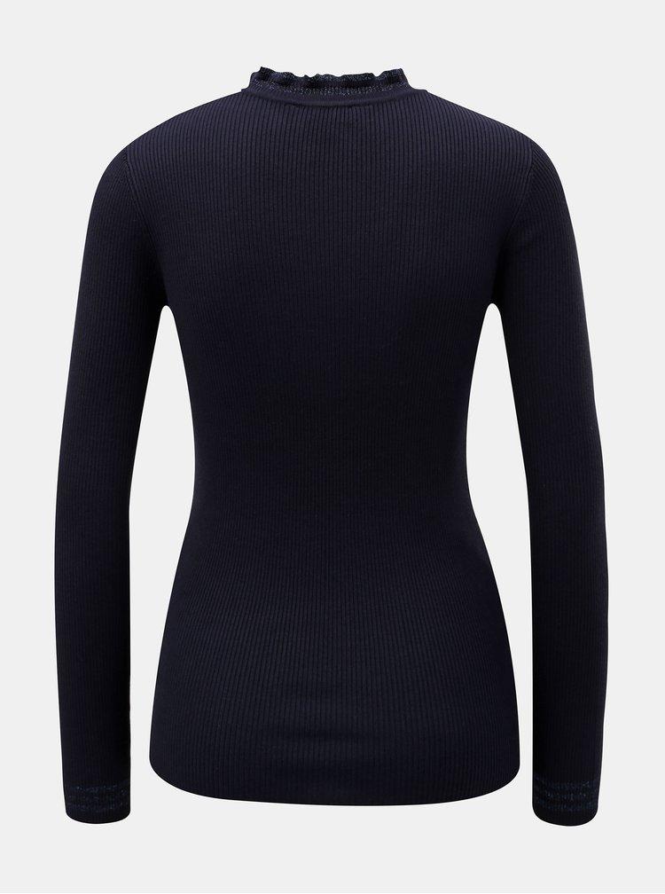 Tmavě modrý svetr s ozdobnými lemy Dorothy Perkins