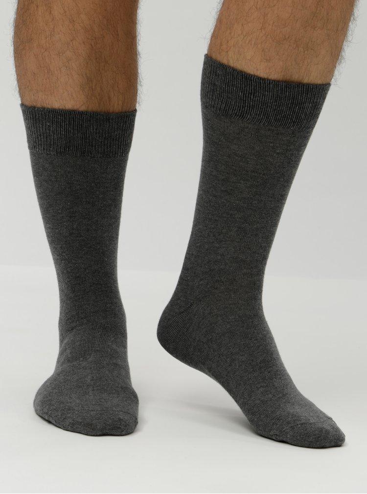 Sada tří párů šedých ponožek Selected Homme Cotton