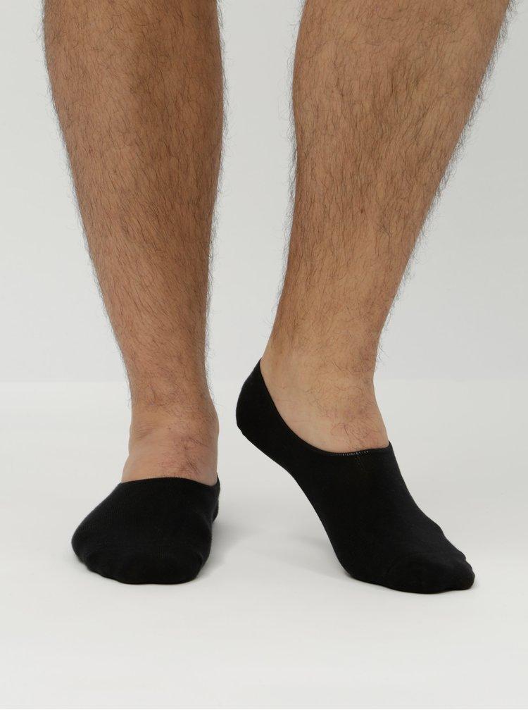 Sada pěti párů černých nízkých ponožek Jack & Jones Basic