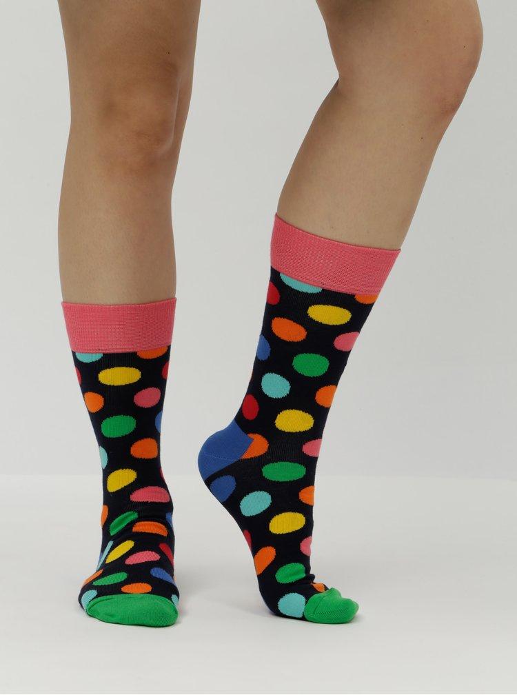 Tmavě modré puntíkované ponožky Happy Socks Big Dot