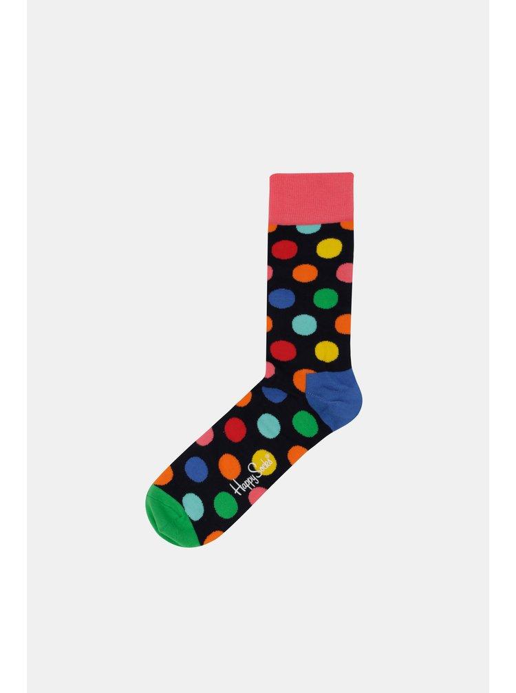Tmavě modré unisex puntíkované ponožky Happy Socks Big Dot