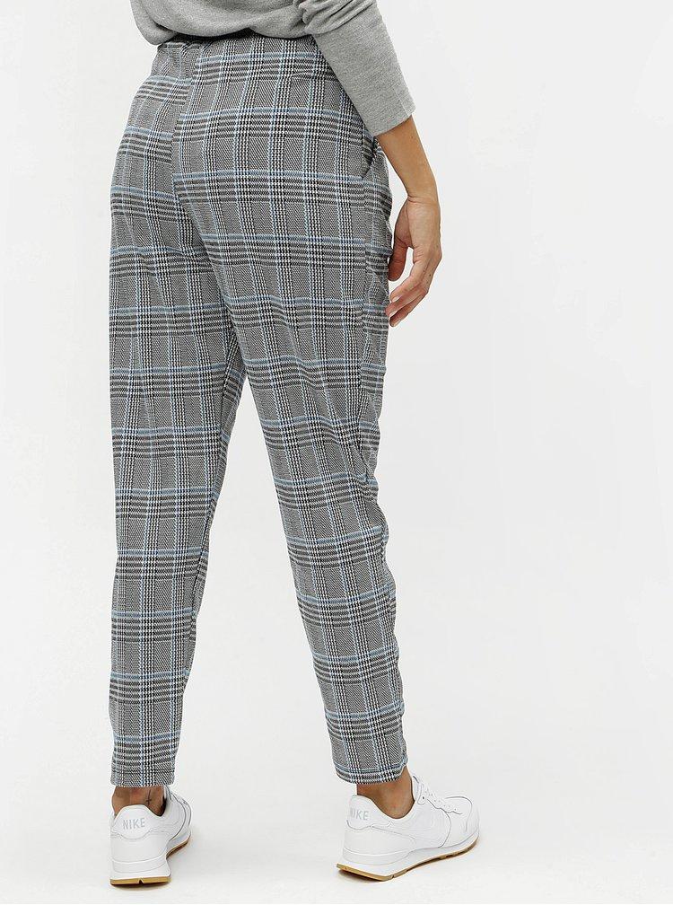Modro-černé vzorované kalhoty VERO MODA Blair