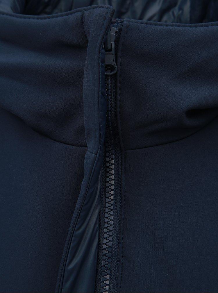 Pardesiu albastru inchis reversibil cu gluga VERO MODA Reversible