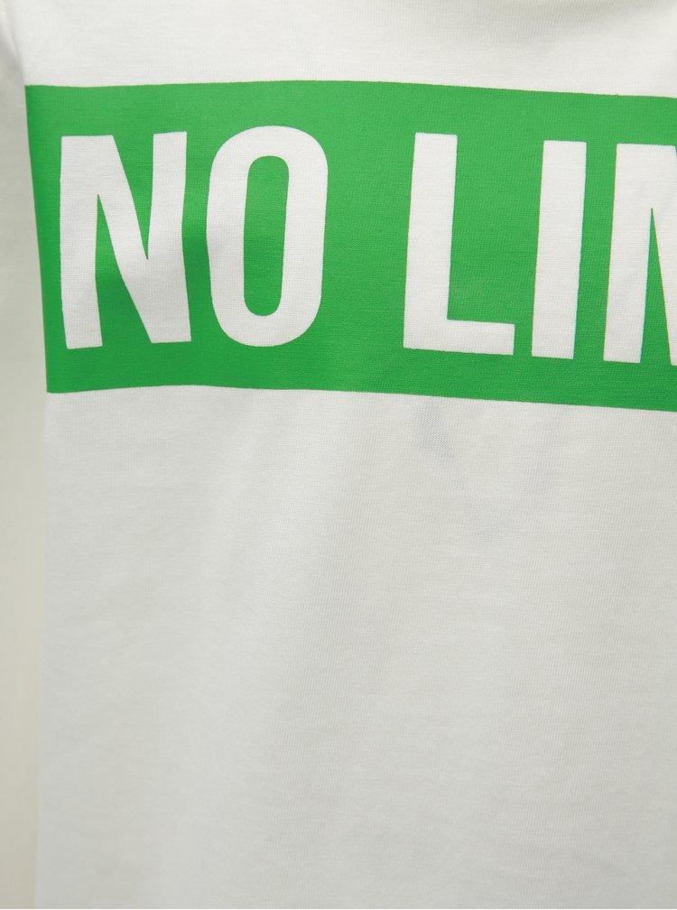 Bílé klučičí tričko s nápisem Name it