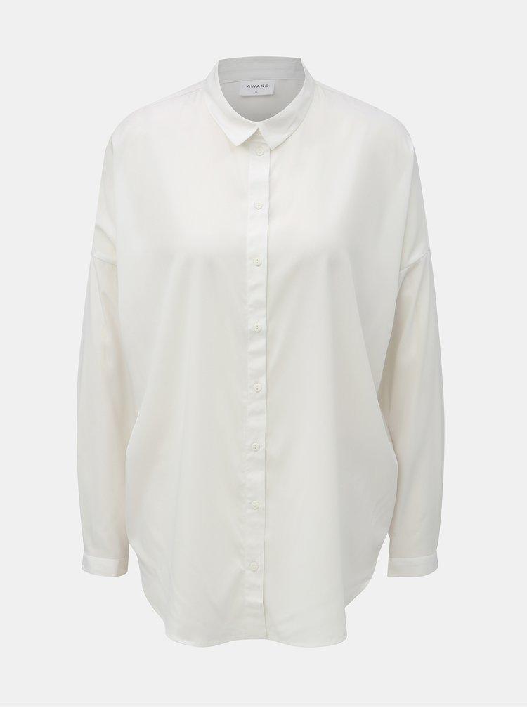 Bílá volná košile s dlouhým rukávem AWARE by VERO MODA Fabulous