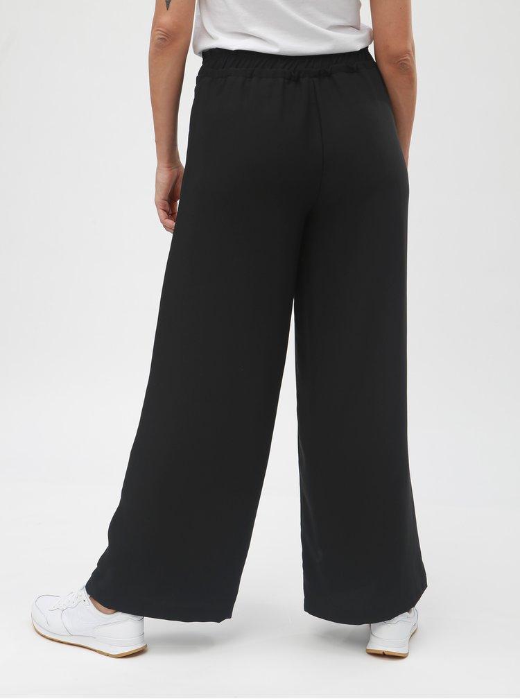 Pantaloni largi negri cu talie inalta VERO MODA Nim Wide