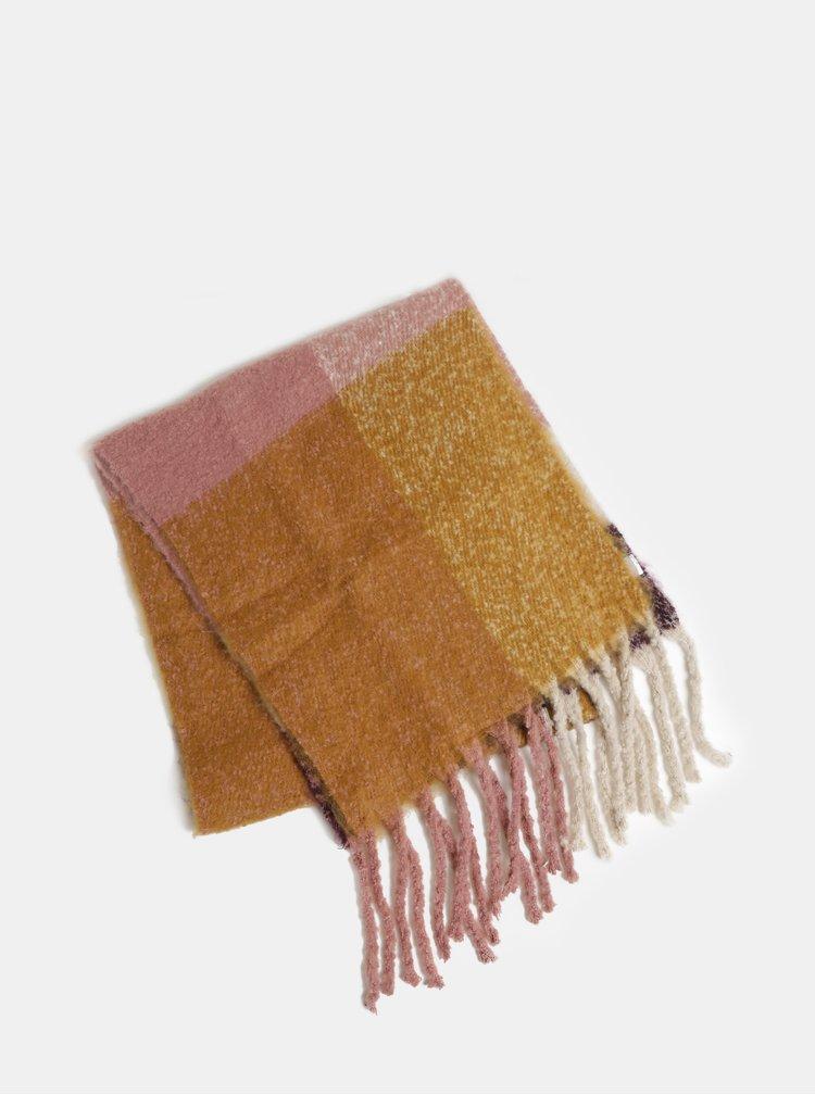 Set cadou de fular mustar-roz Something Special