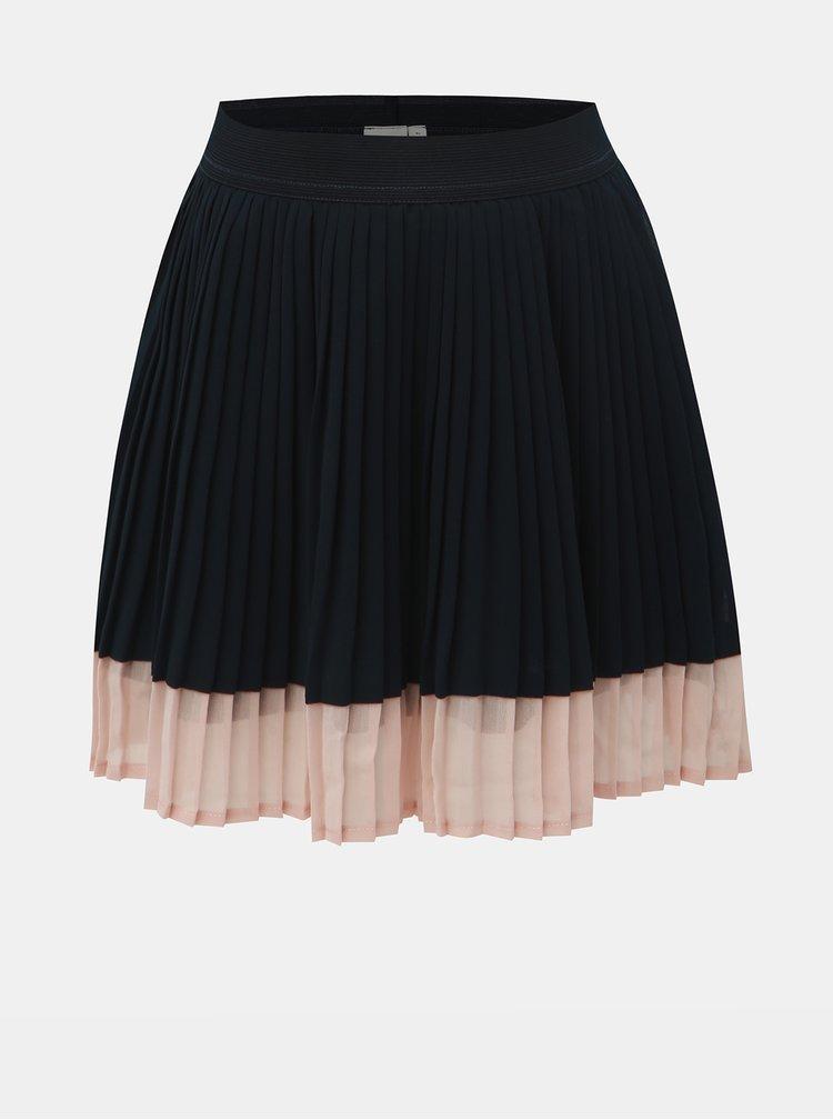 Tmavě modrá holčičí plisovaná sukně Name it