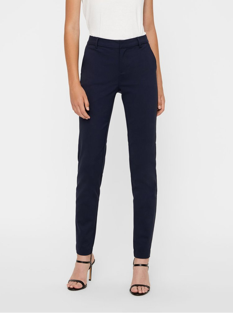 Tmavě modré formální kalhoty VERO MODA