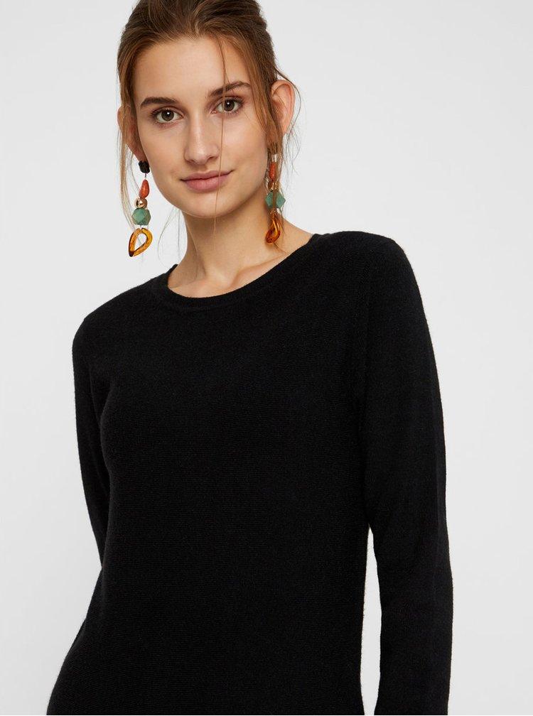 Rochie tricotata neagra cu maneci lungi VERO MODA Nancy