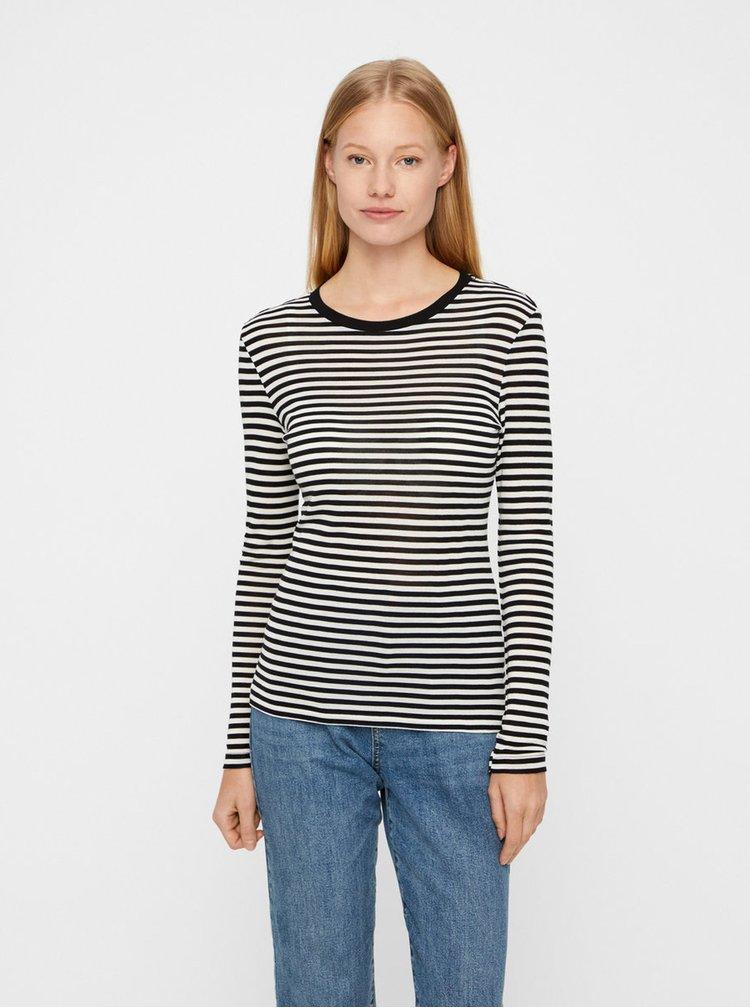 Bílo-černé pruhované basic tričko VERO MODA Ita