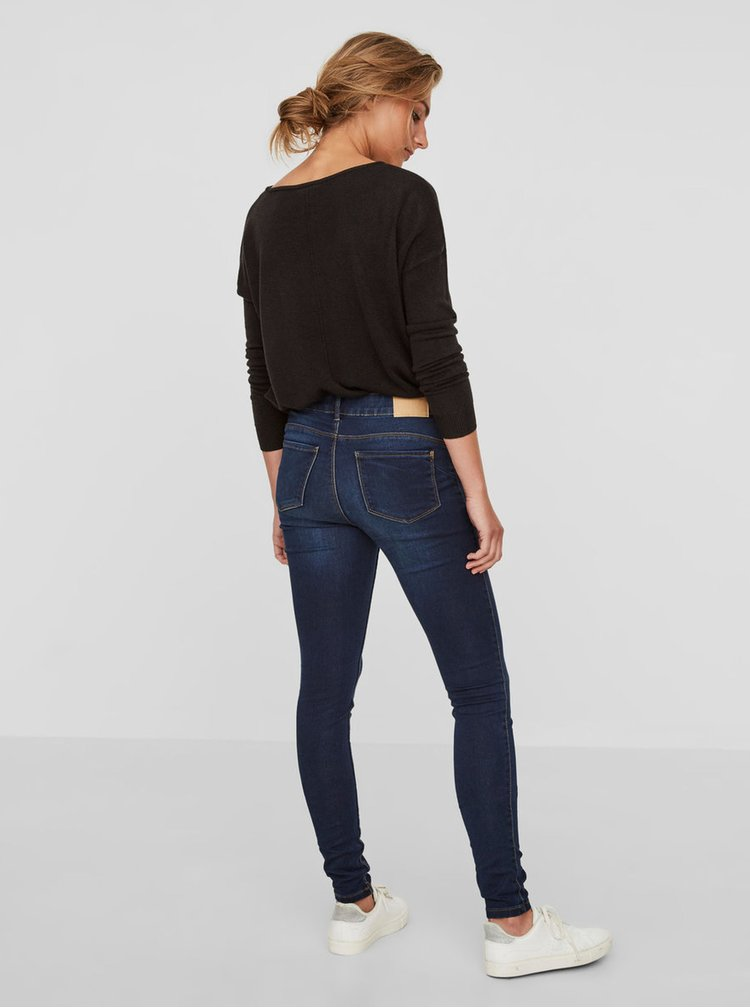 Tmavomodré slim fit rifle VERO MODA Seven