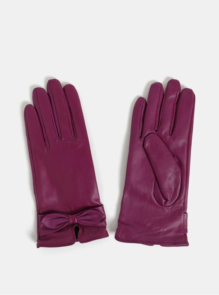 Tmavě růžové kožené rukavice v dárkovém balení Something Special