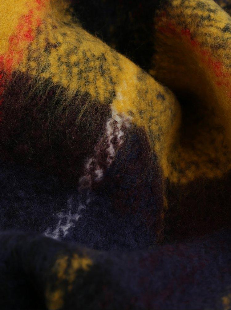Fular albastru-galben in carouri Pieces Kara