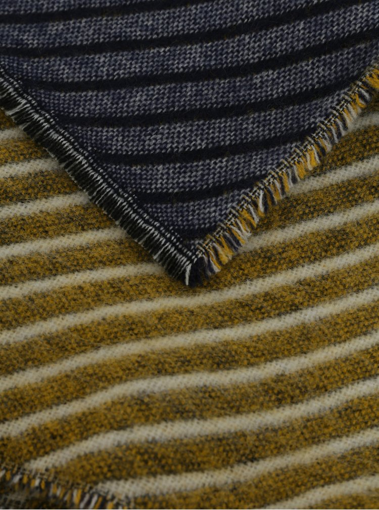 Fular galben-albastru cu model Pieces Lulus