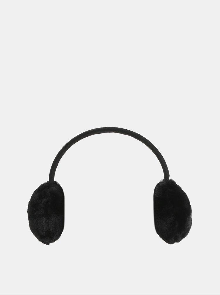 Černé klapky na uši Pieces Kasandra