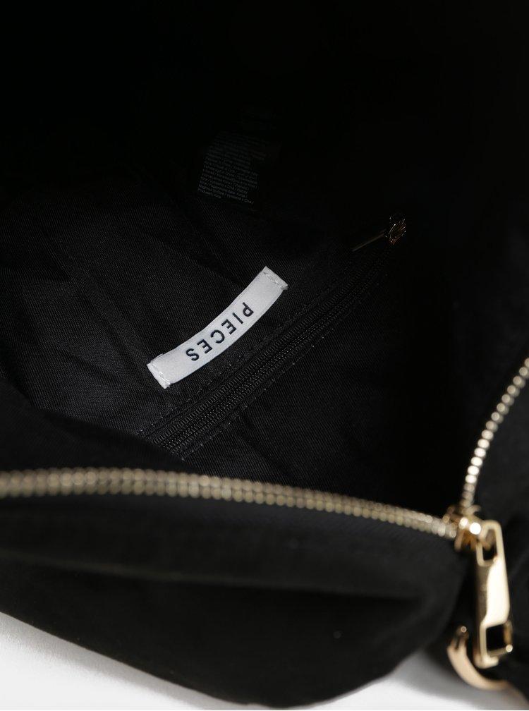 Černý batoh/kabelka v semišové úpravě Pieces Kamea