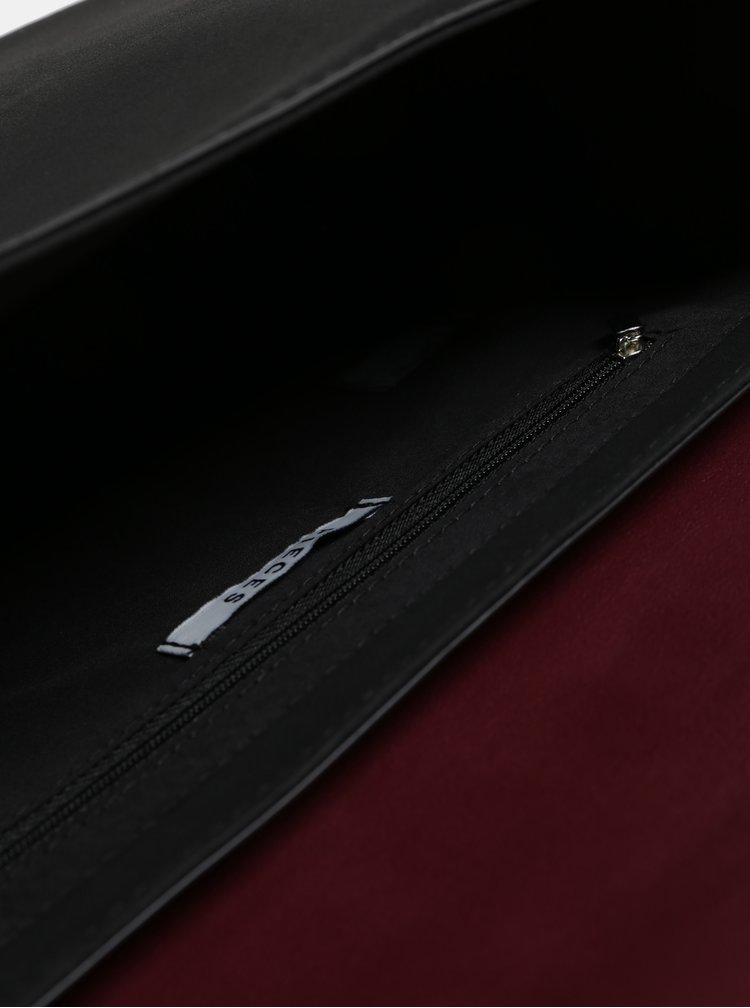 Geanta neagra cu detalii argintii Pieces Kaori