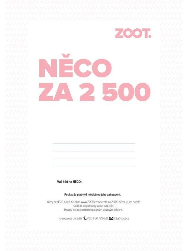 Elektronický poukaz na NĚCO ze ZOOTu v hodnotě 2500 Kč