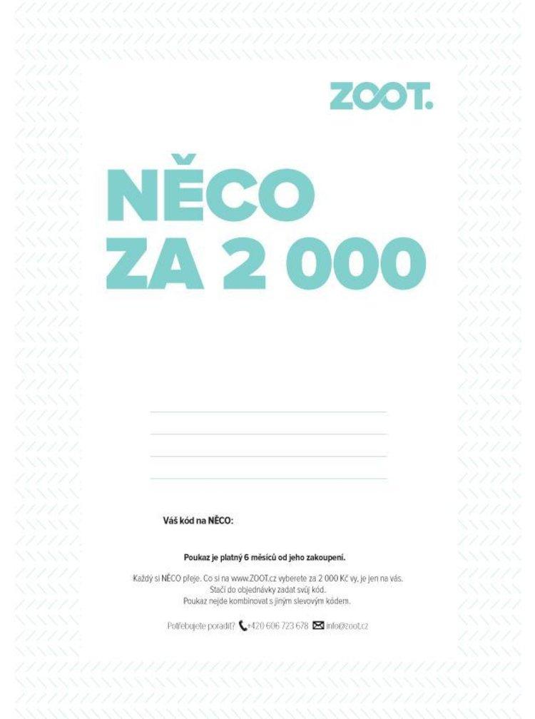 Elektronický poukaz na NĚCO ze ZOOTu v hodnotě 2 000 Kč