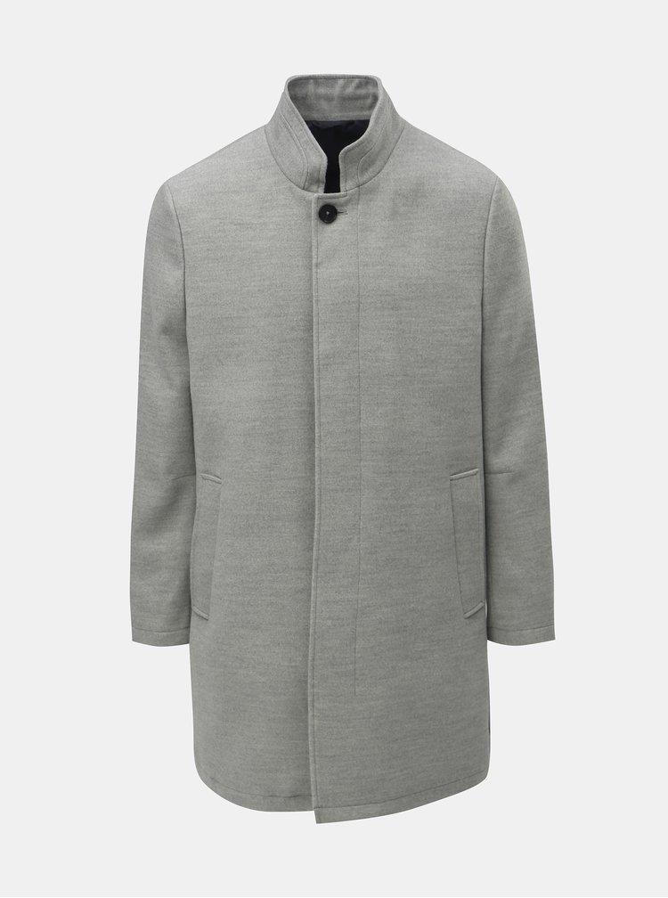 Svetlosivý melírovaný kabát Burton Menswear London Funnel