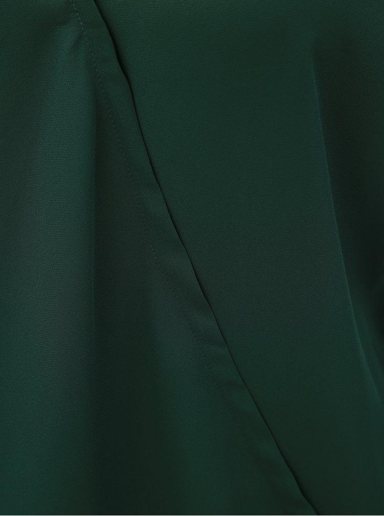 Tmavě zelená halenka s překládaným předním dílem ONLY Palma