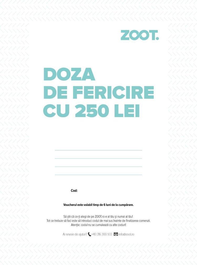 Card cadou electronic in valoare de 250 Lei