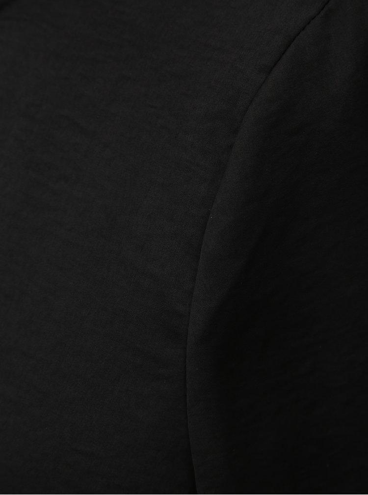 Černá halenka s dlouhým rukávem a průstřihem na zádech ONLY Mona