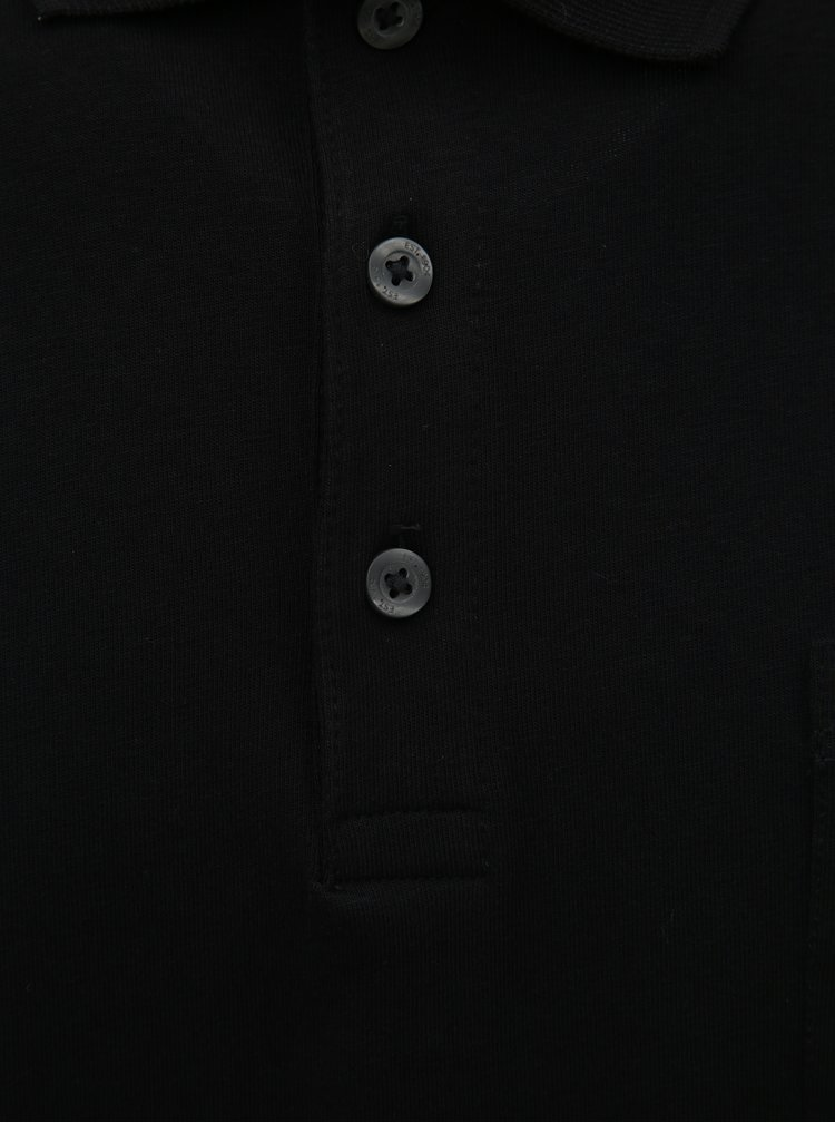 Tricou polo negru Burton Menswear London