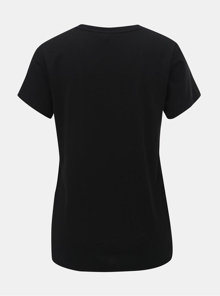 Černé tričko s korálkovou nášivkou ONLY Winnie