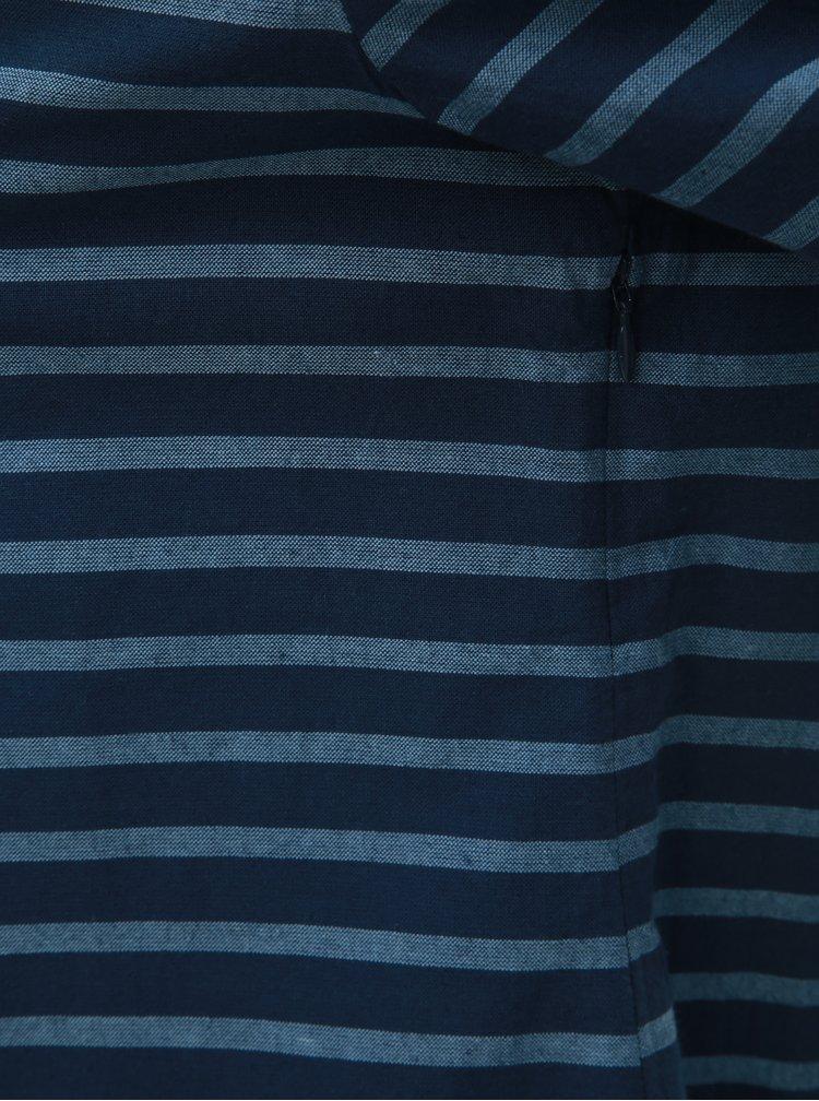 Tmavomodré pruhované šaty Brakeburn