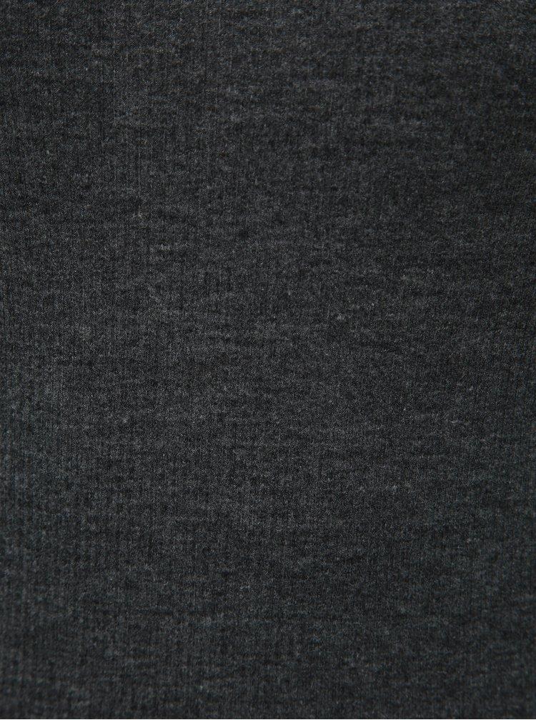 Tmavě šedý žebrovaný basic rolák TALLY WEiJL