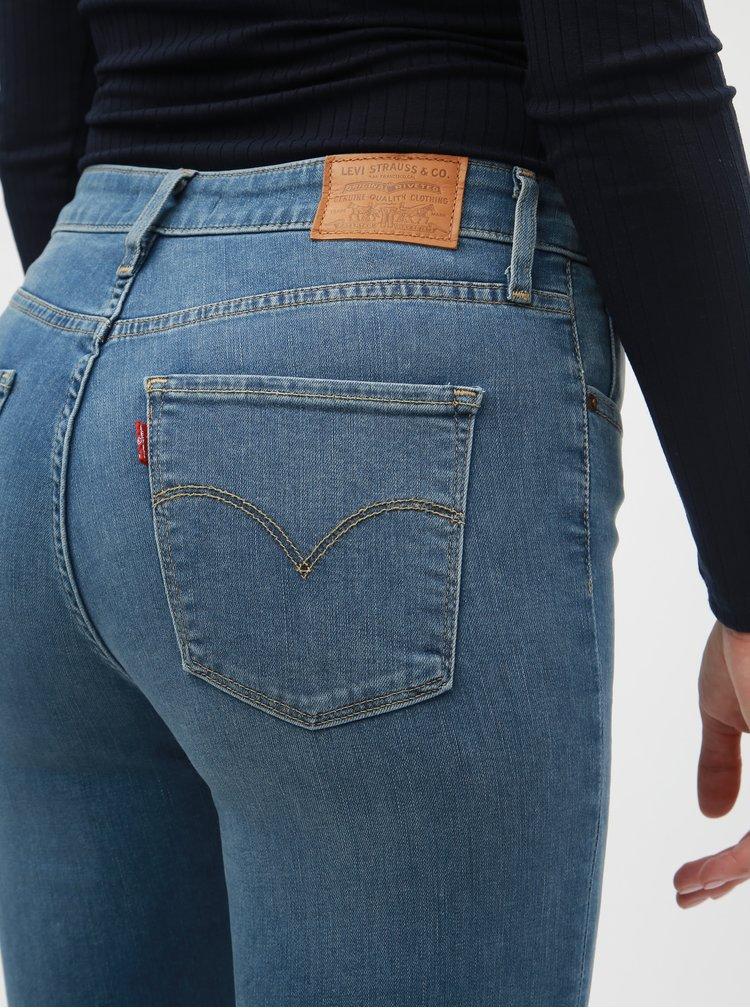Světle modré dámské skinny džíny s vysokým pasem Levi's® 721