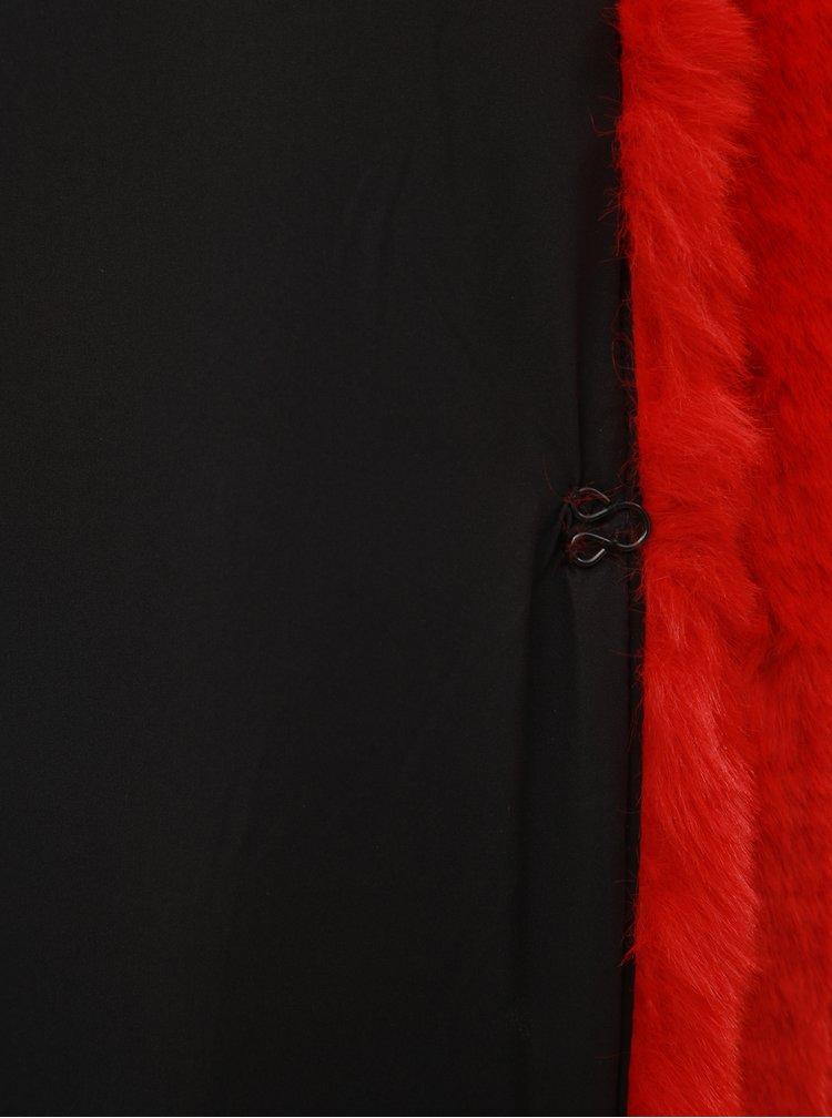 Červený krátký kabát z umělé kožešiny TALLY WEiJL