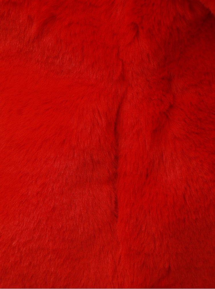 Pardesiu rosu scurt din blana artificiala TALLY WEiJL