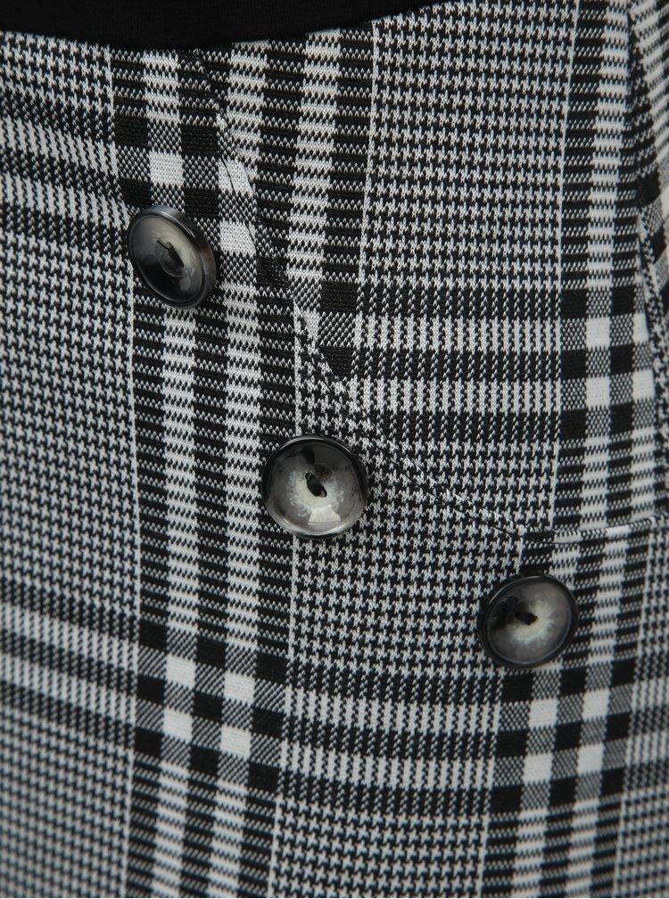 Rochie gri-negru in carouri cu maneci 3/4 si guler inalt Dorothy Perkins